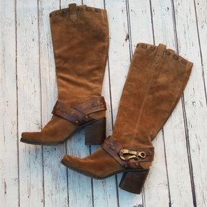 Jessica Simpson Suede Cowboy Boots